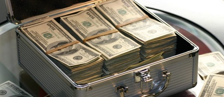 Banknotes in Hard Case